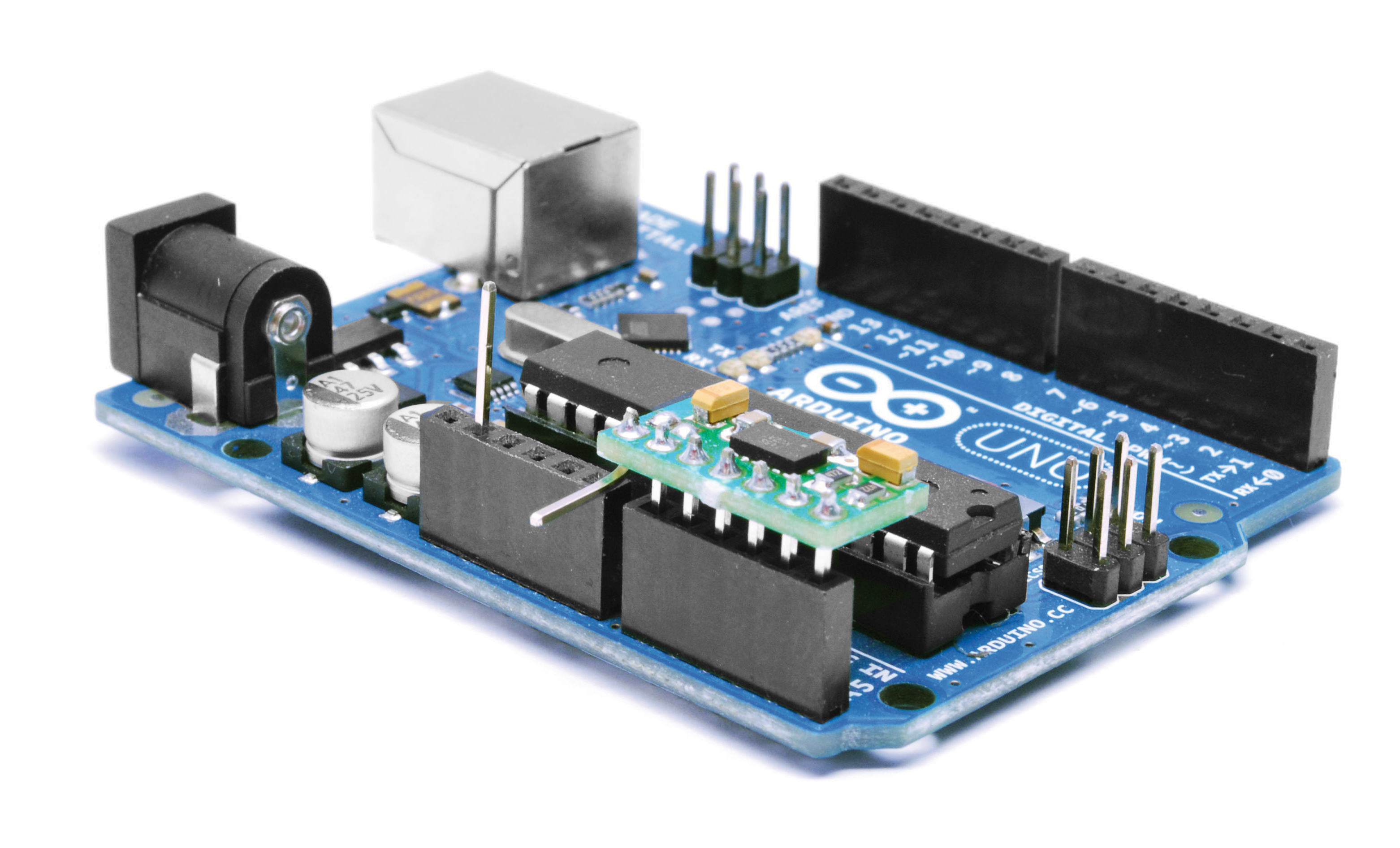 Interfacing MMA7361 accelerometer to Arduino