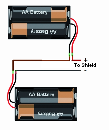 how to connect two battery packs in series