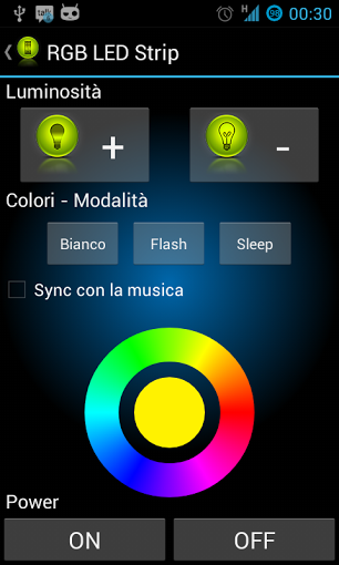 RGB LED Control from Android
