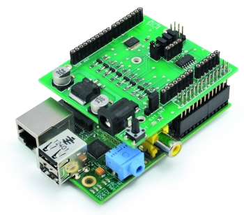 Expansion Shield for RaspberryPi compatible with Arduino | Open.
