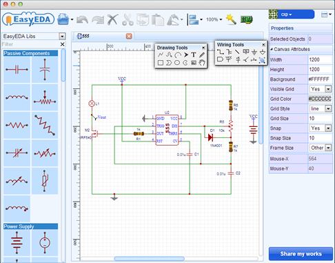 An New Browser Based Electronics Builder Easyeda Open