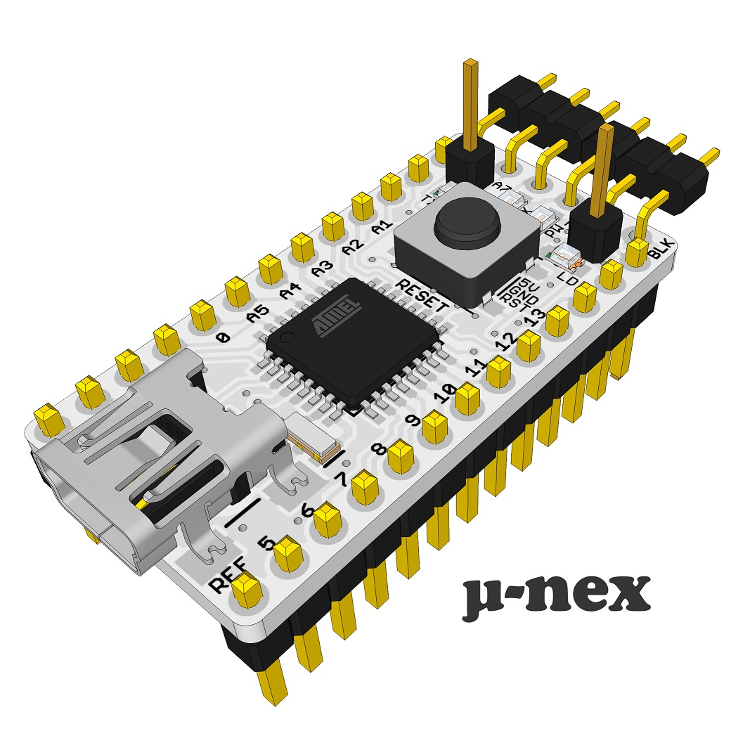 U nex a arduino compatible kb usb development board