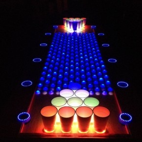 The interactive led beer pong table is on instructables - Interactive led beer pong table ...