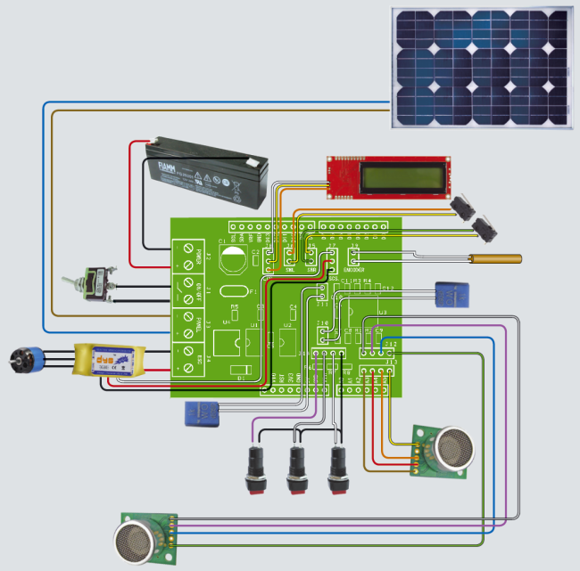 A robotic lawn mower powered by solar energy with an