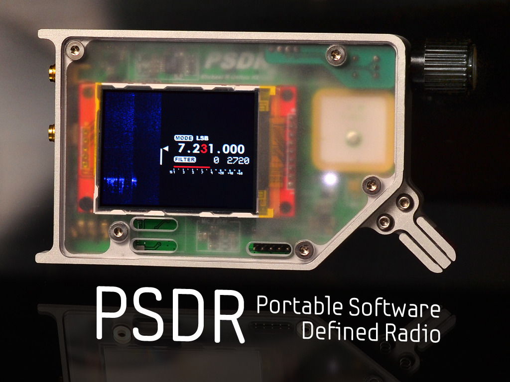 Psdr is a pocket hf sdr open source transceiver with vna and gps