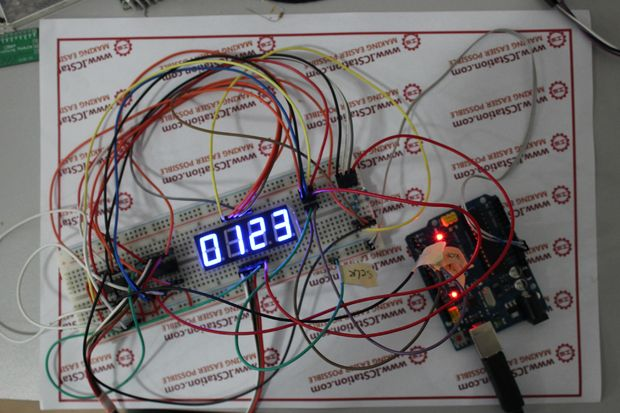 74hc595 digital led display based on arduino open