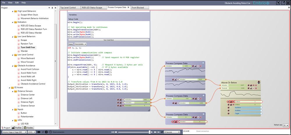 Embrio a visual real time arduino development tool