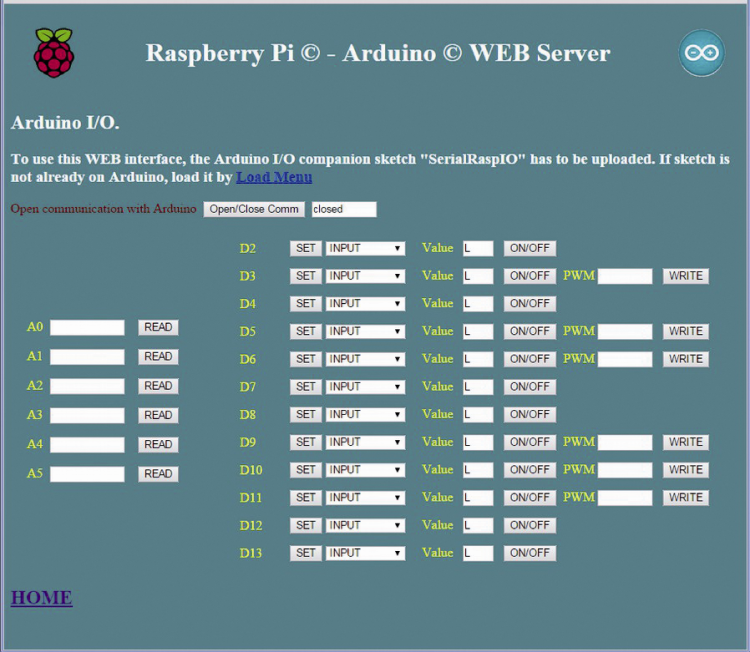 RandA: WebServer application