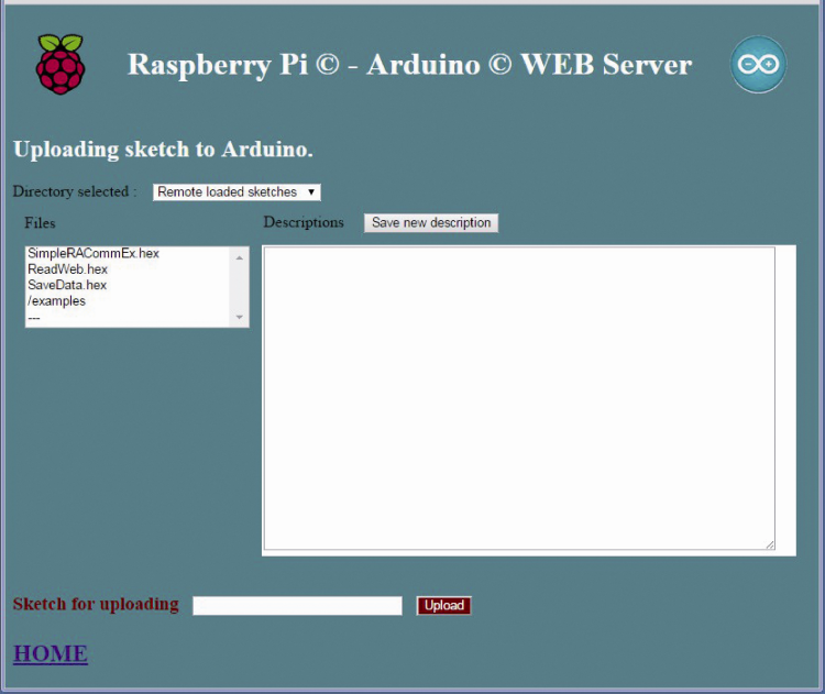 Randa webserver application open electronics