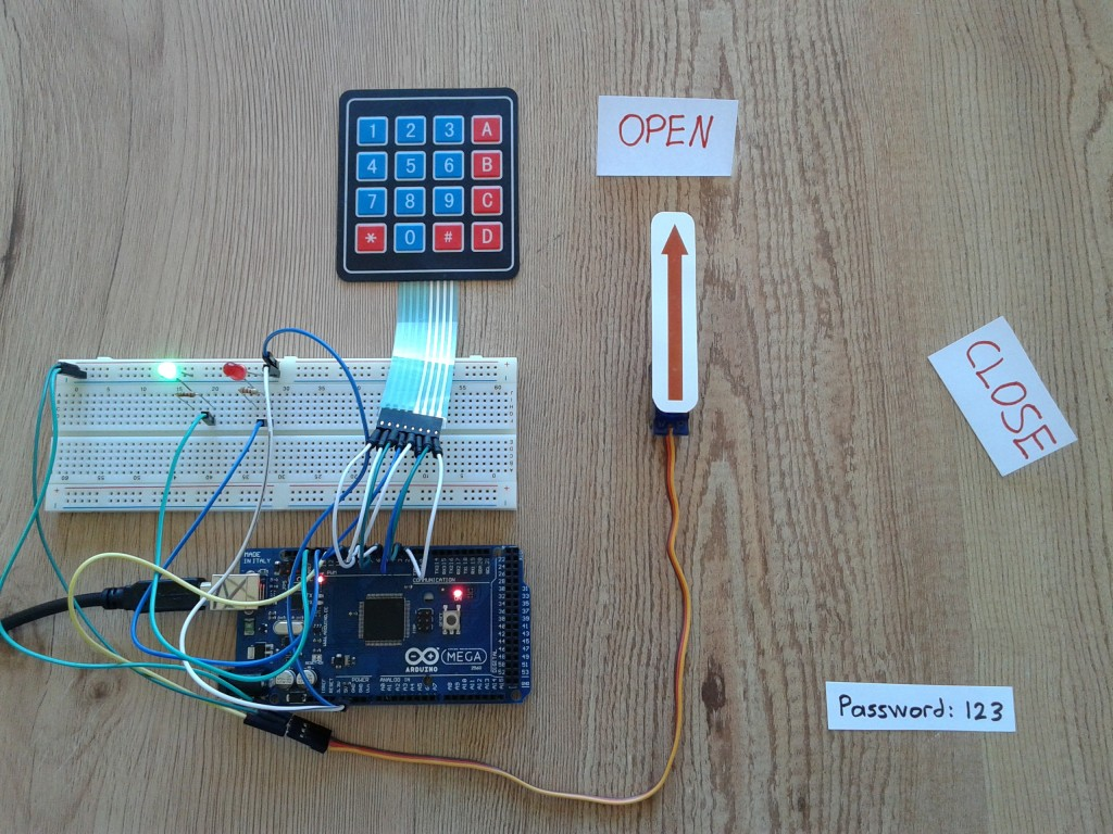 Arduino Door Lock Using 4×4 Keypad and Servo Motor - Open Electronics
