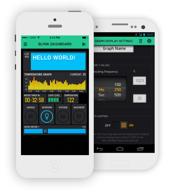 Blynk fast mobile app tinkering for arduino and