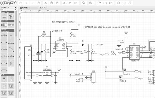 easyeda online pcb design circuit simulator for all. Black Bedroom Furniture Sets. Home Design Ideas