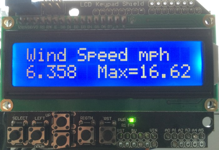 Arduino wind speed meter anemometer open electronics