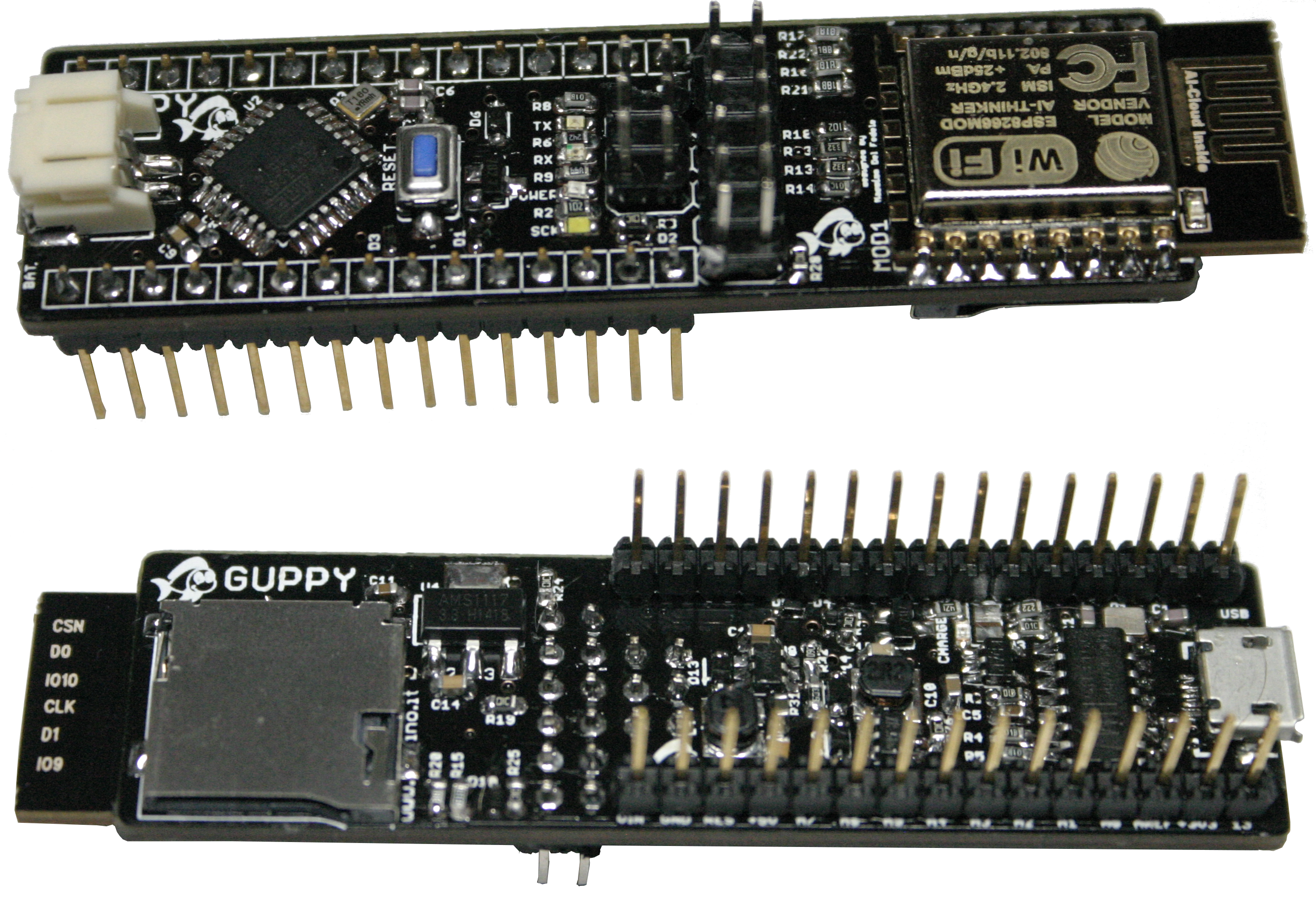 Fishino Guppy Pinout Scheme Available Now Open Electronics Arduino Isp In System Programming And Standalone Circuits