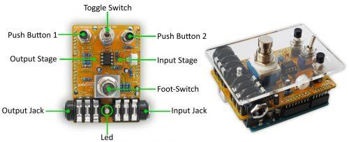 arduino uno guitar pedal open electronics. Black Bedroom Furniture Sets. Home Design Ideas