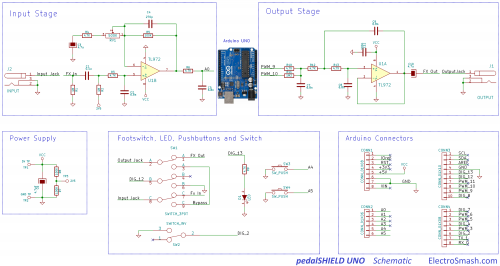 Arduino UNO Guitar pedal - Open Electronics on solenoid wiring diagram, wireless backup camera wiring diagram, relay wiring diagram, speaker wiring diagram, stepper motor wiring diagram, switch wiring diagram, servo motor wiring diagram, potentiometer wiring diagram, sensor wiring diagram, photocell wiring diagram, motor shield wiring diagram, power supply wiring diagram, piezo wiring diagram, ptz camera wiring diagram, breadboard wiring diagram, soldering iron wiring diagram,