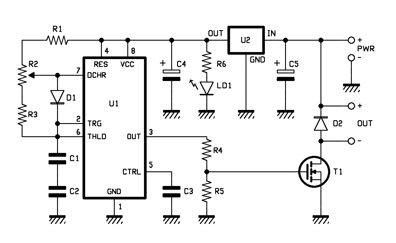 An Electric Speed Control For Dc Motors Open Electronics 555 Logic Diagram In Order To Let You Understand The Subject We Will Spend A Few Paragraphs Explaining Functioning Of Timer This Integrated Circuit Contains Two