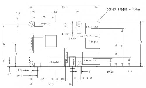 RaspberryPi3BDimension-500x302 Diamo il benvenuto al nuovo Raspberry Pi 3 B+