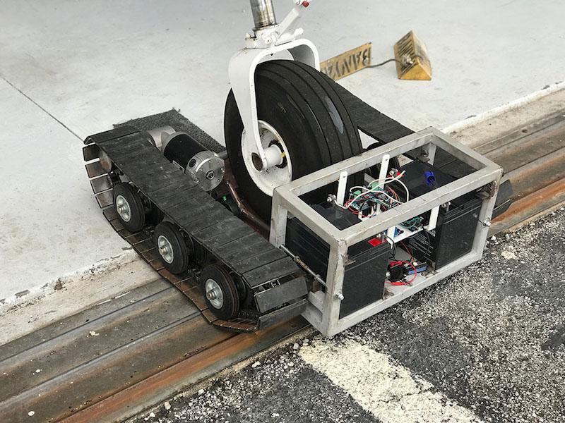 Arduino powered aircraft tug open electronics