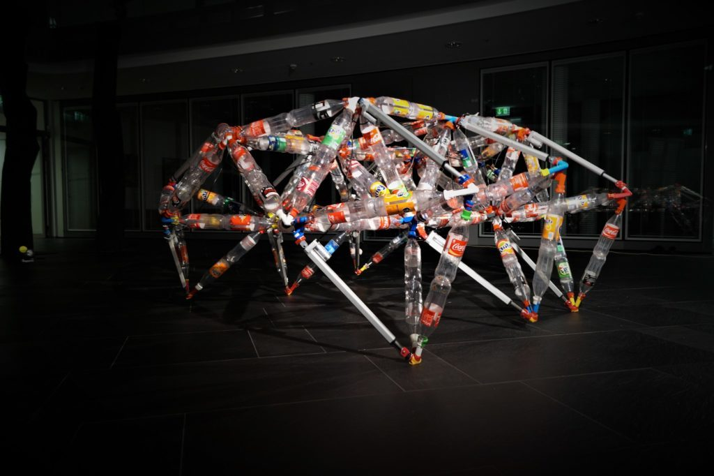 TrussFormer: Plastic Bottles and 3D Printed Connectors Create Kinetic Structures