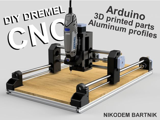 diy a cnc machine with a dremel as a spindle open electronics