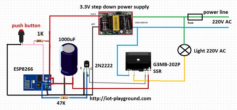 Esp8266 Internet Connected Switch Easyiot Cloud Mqtt Api